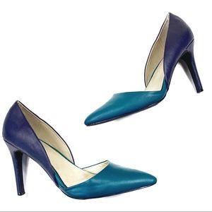 ☕️5/$25 MIA Colorblock pumps high heels blue teal